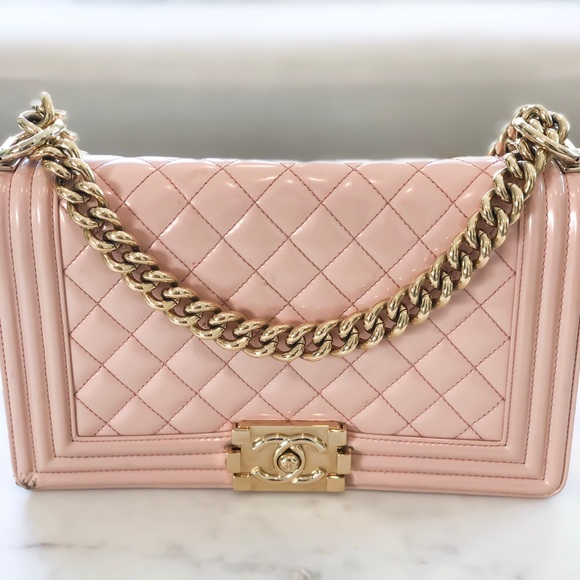 CHANEL Handbags - baby pink CHANEL boy bag 💝